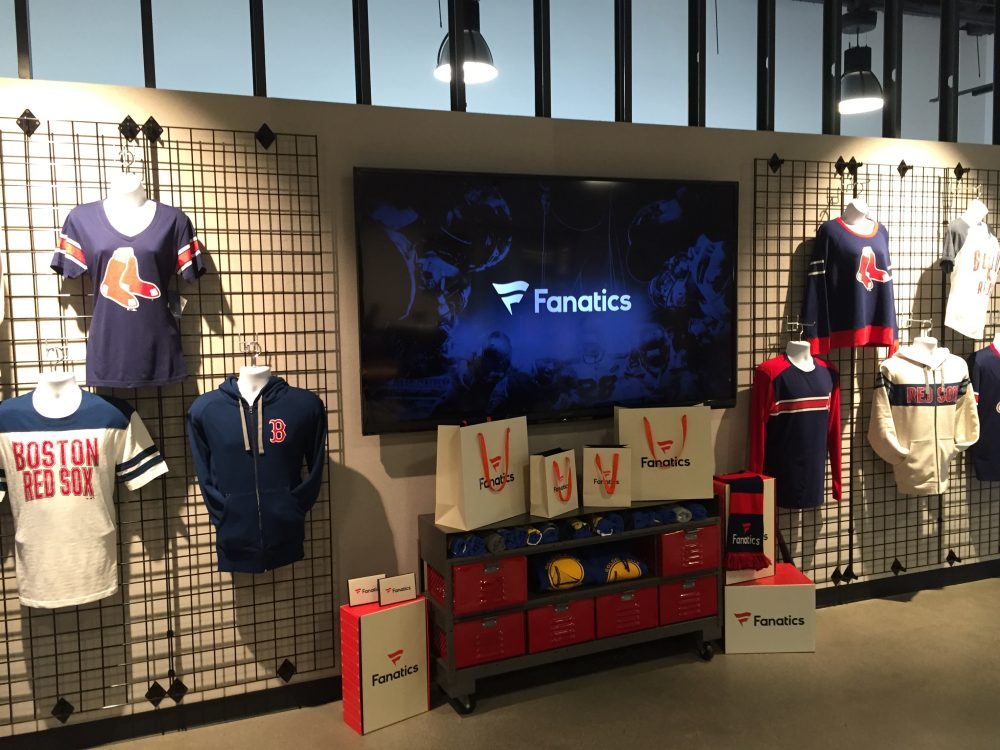 Fanatics San Mateo office showroom
