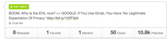 Google Gmail No privacy