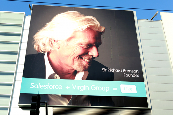 Sir Richard Branson keynoting at Dreamforce 2012