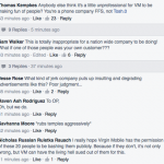 Responses on Facebook on the endorsement of Virging Mobile USA of a Buzzfeed article