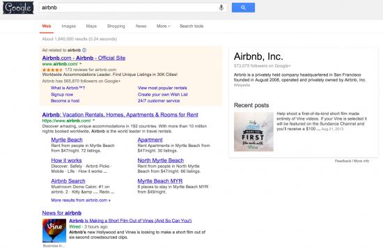 Airbnb Myrtle Beach sitelinks