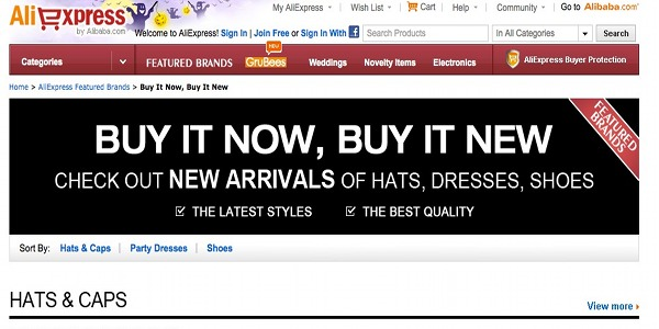 AliExpress trying to Hijack eBay Brand tagline