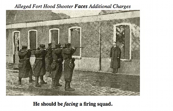 Firing Squad for alleged fort hood shooter?