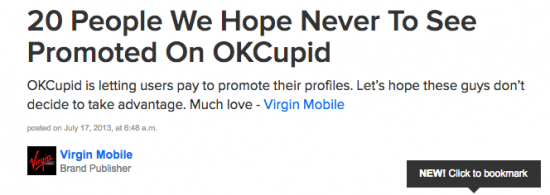 Buzzfeed OKCupid trash article