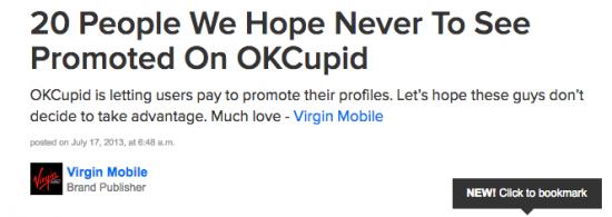 Buzzfeed OKCupid trash article