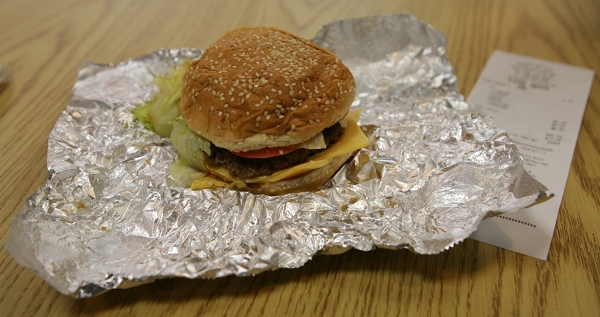 Bacon Cheeseburger by Five Guys
