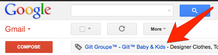 Gmail advertising targeting
