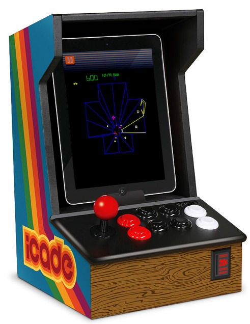 iCade - Ipad Arcade Cabinet  on ThinkGeek. Perfect present for a Geek