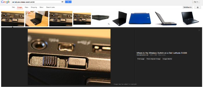 Why would anybody still click through to the site of an image in new Google Image search layout?