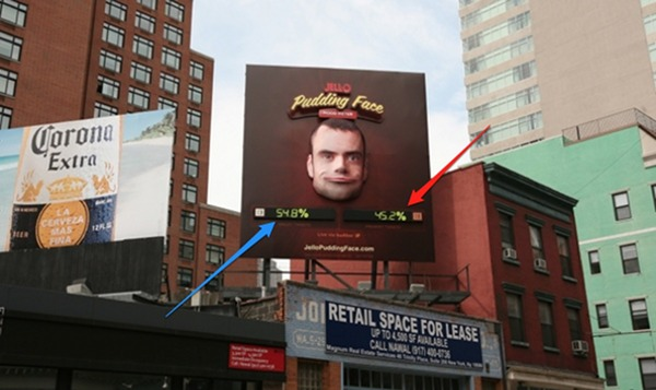 Jello pudding mood billboard