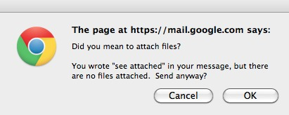 Smart Chrome pop-up for Gmail attachments