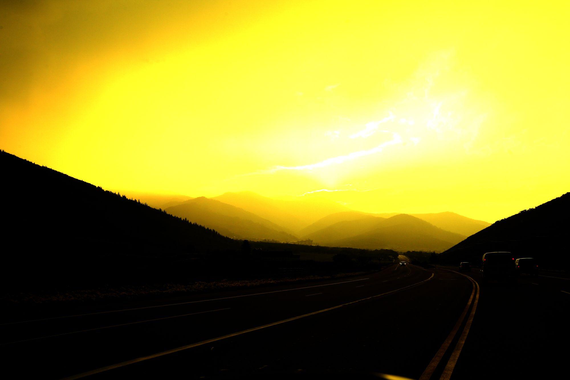 Zonsondergang in Utah