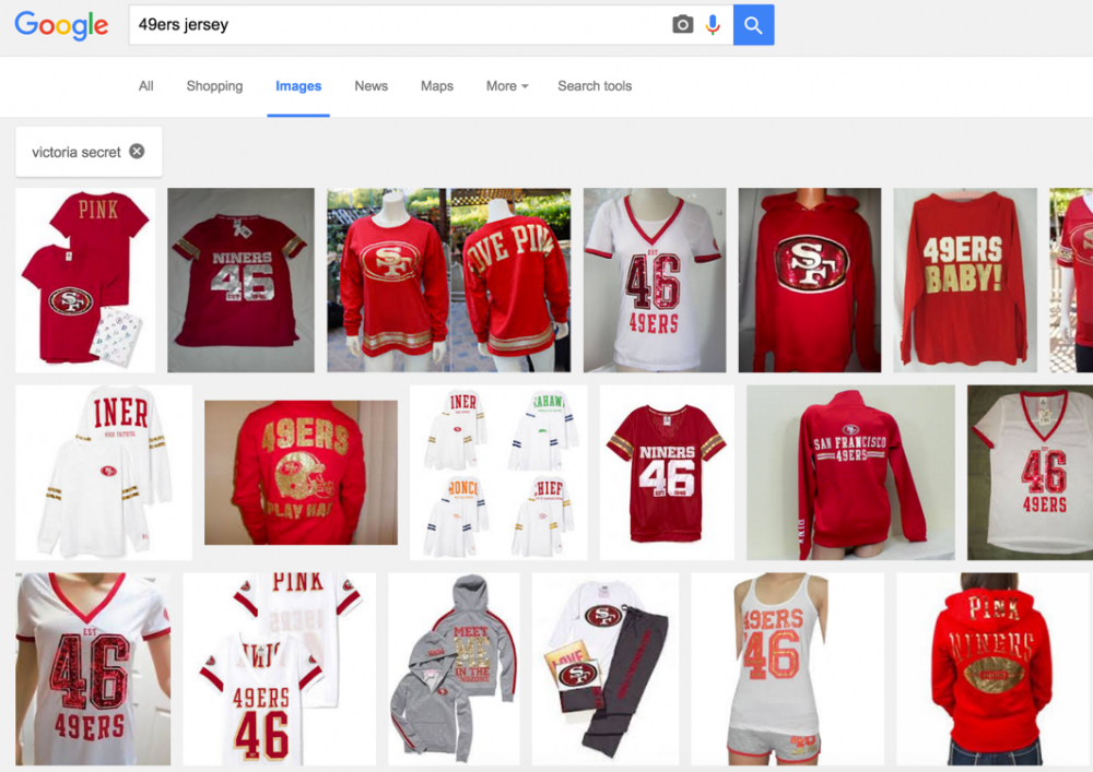 Victoria Secret 49ers jersey google image search results