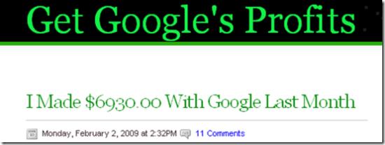 Get Google's Profits