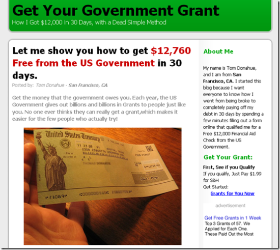 Get Your Government Grant