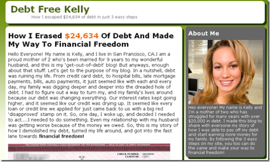 Debt Free Kelly