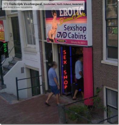 Walking in Sexshop
