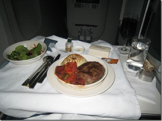 Airplane-dinner