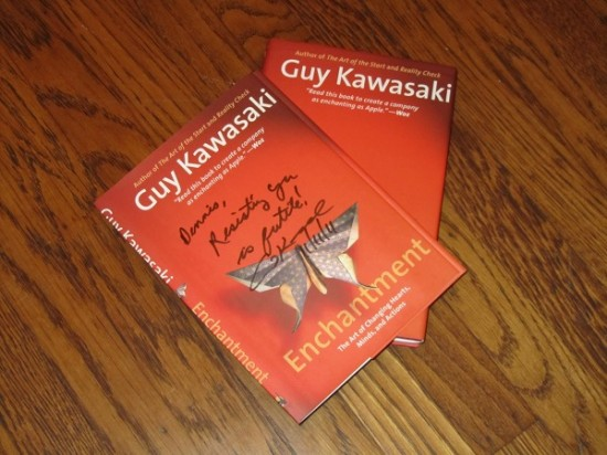 signed Enchantment cover by Guy Kawasaki