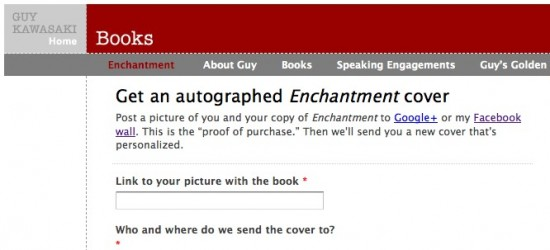 Get your own signed cover of Enchantment from Guy Kawasaki
