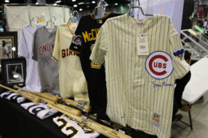 Ernie Banks signed baseball jersey