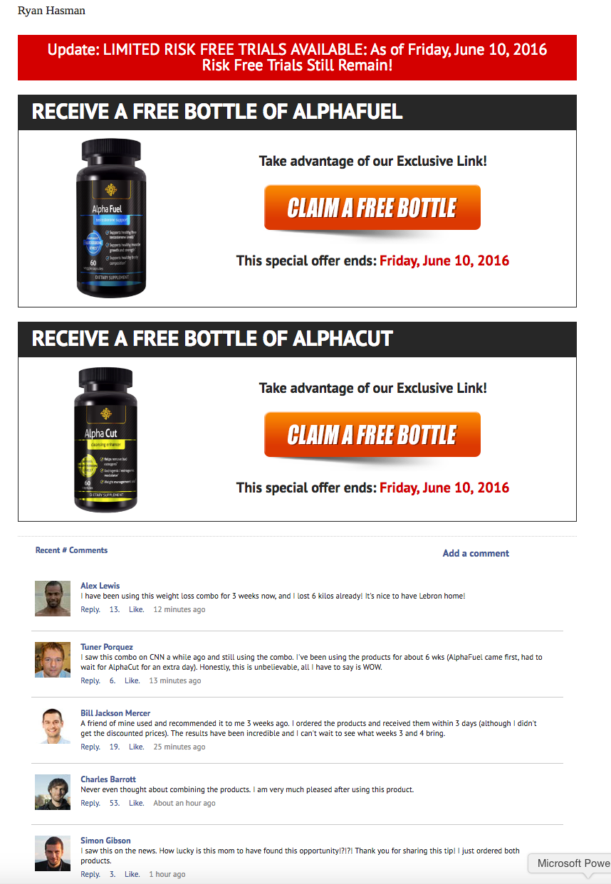 Alphafuel test packet for free
